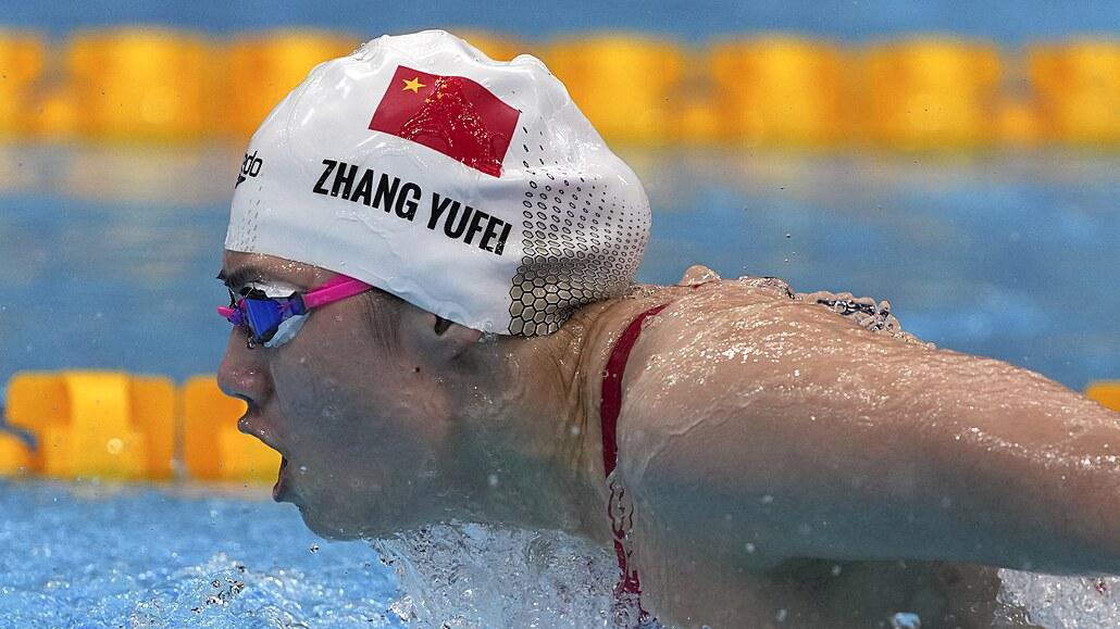Čínská plavkyně Čang Jü-fej získala na OH dvě zlata během dne