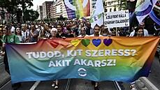 Členové komunity LGBT vyrazili v Budapešti do ulic. Hlasitě tak protestovali proti novému zákonu