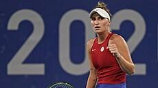 Fantastická Vondroušová. Česká tenistka zaskočila domácí hvězdu Ósakaovou a je ve čtvrtfinále OH