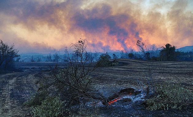 Turecko v ohni. Kvůli požárům evakuovali tisíce turistů, šest lidí zemřelo