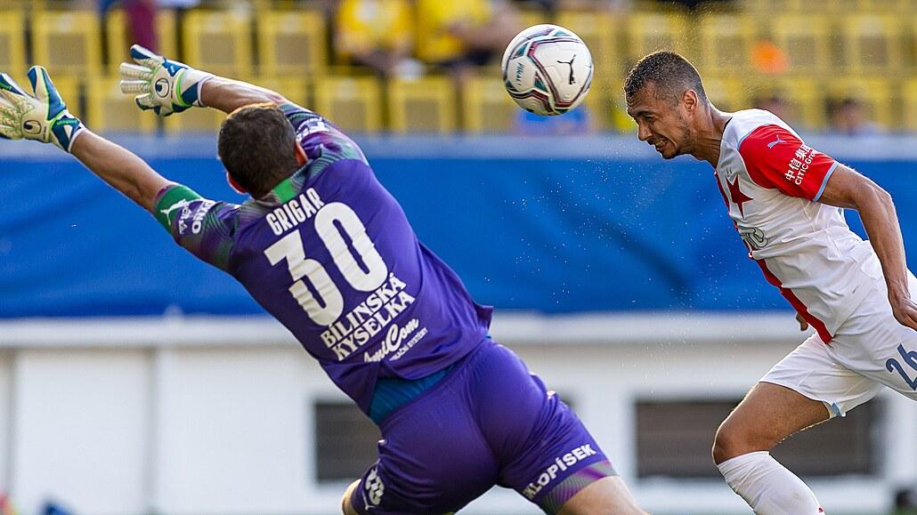 Teplice - Slavia 1:3, druhá výhra mistra, hattrickem ji zařídil Schranz