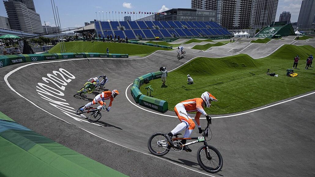 Olympijské závody v bikrosu v Tokiu vyhráli Kimmann a Shrieverová