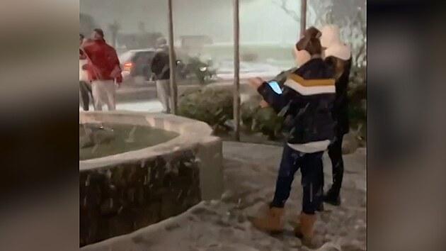 Brazilce zaskočil nečekaný příval sněhu