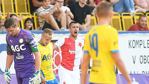 Fotbalista Slavie Ivan Schranz byl zvolený hráčem zápasu s Teplicemi