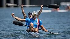 Česko má další olympijskou medaili. Dostál a Šlouf senzačně vybojovali na deblkajaku bronz