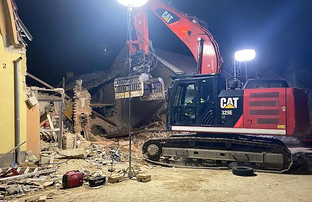Výbuch v Koryčanech poničil i sousední dům, obyvatele večer evakuovali