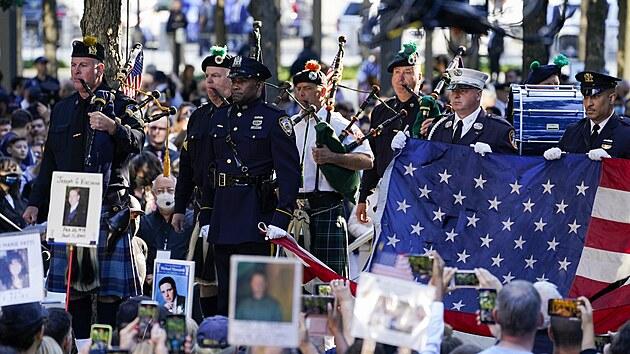 V New Yorku se uskutečnila za účasti prezidenta Bidena pieta za oběti z 11....