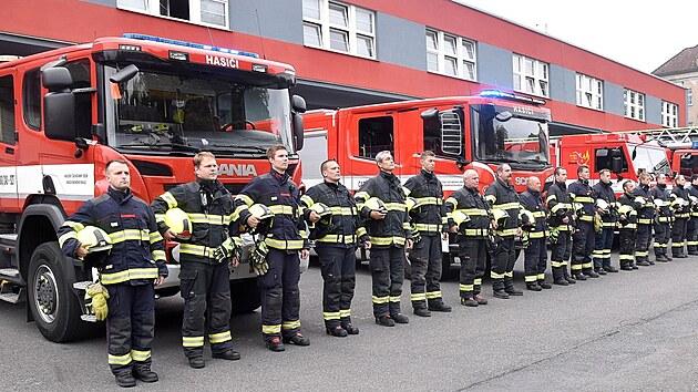 Památku dvou hasičů, kteří zemřeli v Koryčanech, uctili jejich kolegové v...