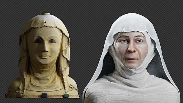 Rekonstrukce obličeje svaté Ludmily