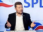 Hostem Rozstřelu je Tomio Okamura, poslanec, šéf hnutí a volební lídr SPD. (16....