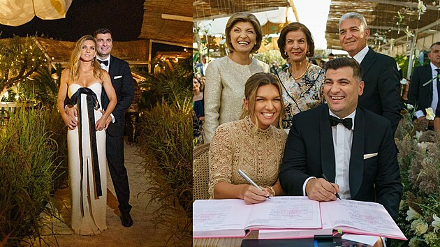 Pompézní svatba Simony Halepové. Tenistka si vzala miliardáře