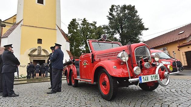 Pohřeb dobrovolného hasiče Jaroslava Fily, který zahynul při výbuchu plynu v...