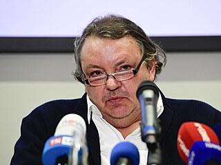Prezident Českého hokeje Tomáš Král vystoupil na tiskové konferenci, kde...