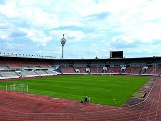 Stadion Evžena Rošického v Praze na Strahově.