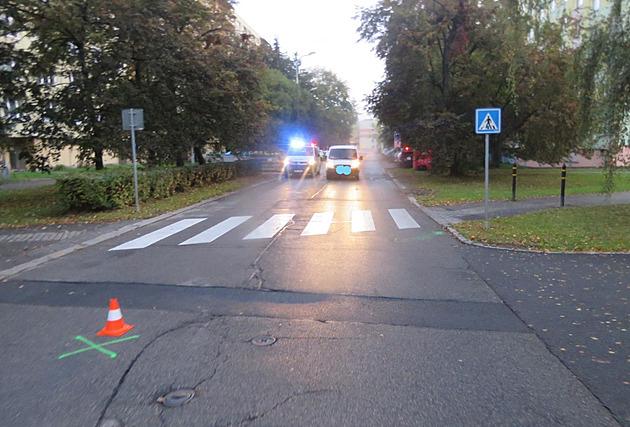 Nehoda se stala u přechodu na Plzeňské ulici v Českých Budějovicích.