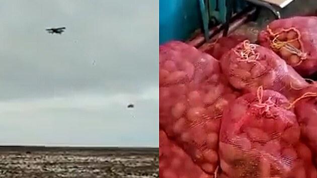 Brambory na místě, přepínám. Na Sibiři házejí vesničanům jídlo z dvouplošníků