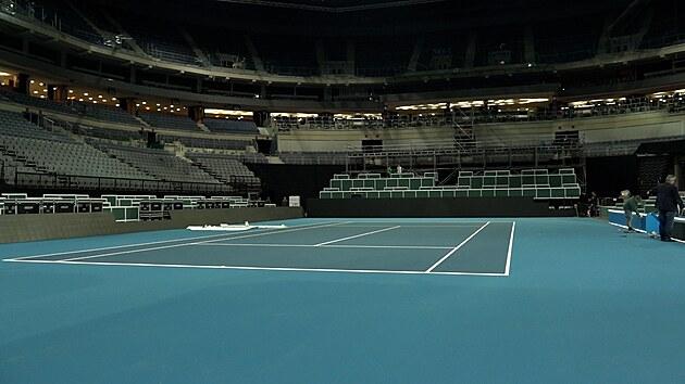 O2 arena je téměř připravená na tenisový Billie Jean King cup