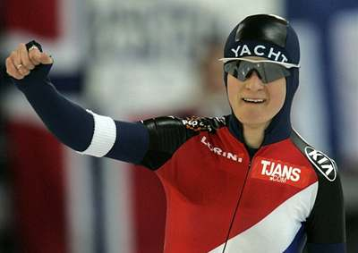 Sáblíková vyhrála závod na pět kilometrů