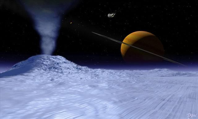 Na měsíci Saturnu je voda v tekutém stavu