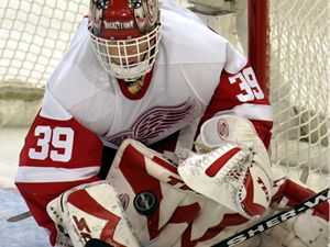 Dominik Hašek ve dresu Detroit Red Wings