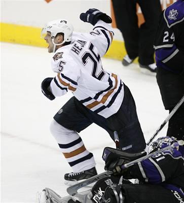 Hejda premiérovým gólem v NHL rozhodl prodloužení