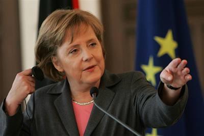 Merkelová chce obnovit dodávky plynu a mír v Gaze