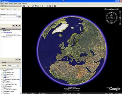 Google Earth zvládá i mapy hvězdné oblohy