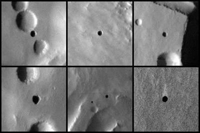 NASA: Mars skrývá záhadné otvory