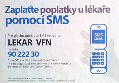 Poplatky u lékaře lze nově platit prostřednictvím SMS