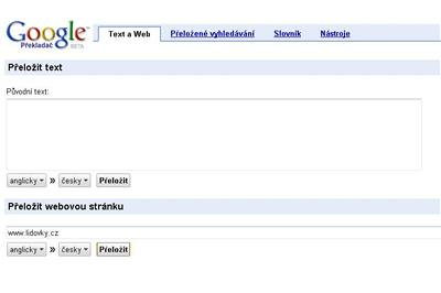 Google Translate překládá do češtiny