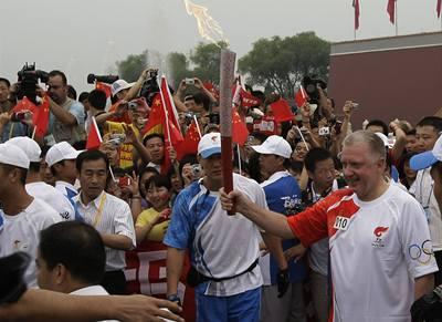Olympijská pochodeň dorazila do Pekingu