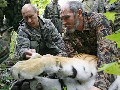 Putin krotitelem tygrů