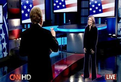 Volby komentoval hologram