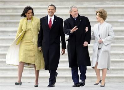Obama střídá Bushe v čele USA