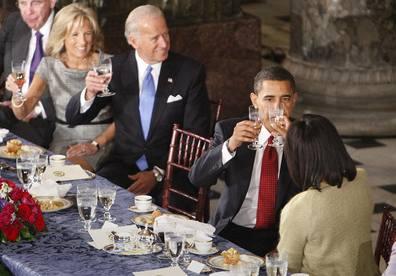 V projevu se Obama mírně zaškobrtl