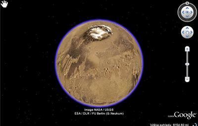 Nové snímky Marsu v Google Earth