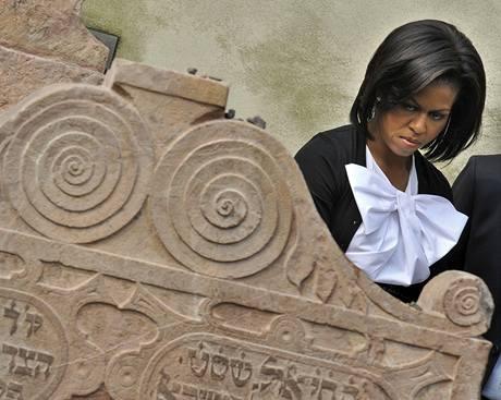 Obamová prošla židovské město a odletěla