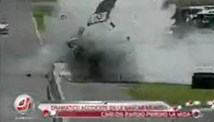 Smrt si jej našla kolo před koncem závodu Nascar, přesto vyhrál!