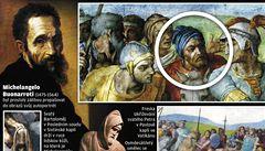 Na fresce objevili Michelangela, namaloval si modrý turban