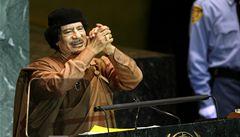 Kaddáfímu při  projevu na půdě OSN zkolaboval tlumočník