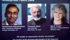 Nobelova cena pro chemiky za přesný obraz ribozomu