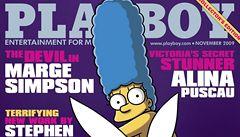 Marge Simpsonová se objeví na obálce Playboye