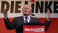 Lídr německé Levice Lafontaine možná odejde z politiky, má rakovinu