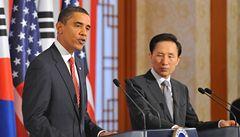 Obama varoval KLDR a Írán: Svět nebude jen nečinně přihlížet