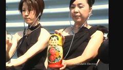 Japonský soubor hraje na elektronické matrjošky