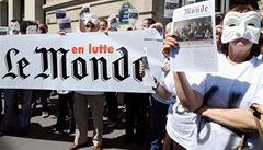 Deník Le Monde už dva dny nevychází, tiskaři totiž stávkují