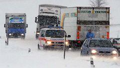 Počasí komplikuje dopravu na Vysočině