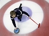 Jeff Isaacson a curling.