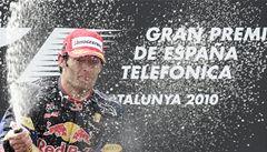 Ve Španělsku vyhrál Webber na Red Bullu, Schumacher dojel čtvrtý