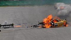 VIDEO: Italský pilot bojuje v Brně o život po ohnivém pekle